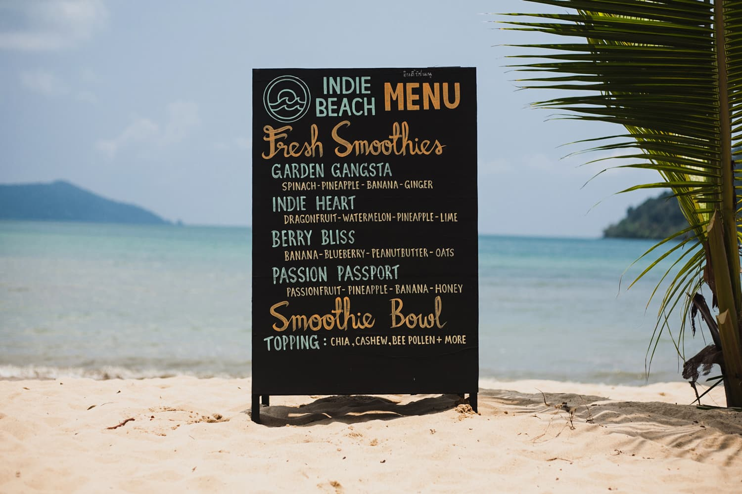 Indie Beach Koh Chang Beach Menu