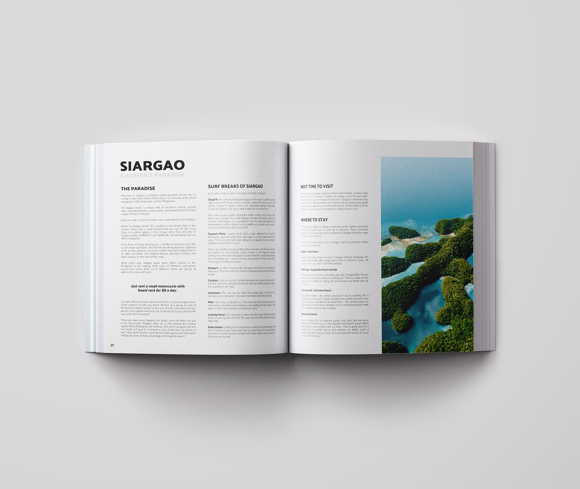 Ancar Studio Surf Time Magazine Editorial Siargao