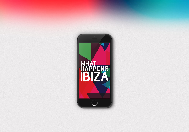 Ancar Studio What Happens Ibiza App Logo Branding