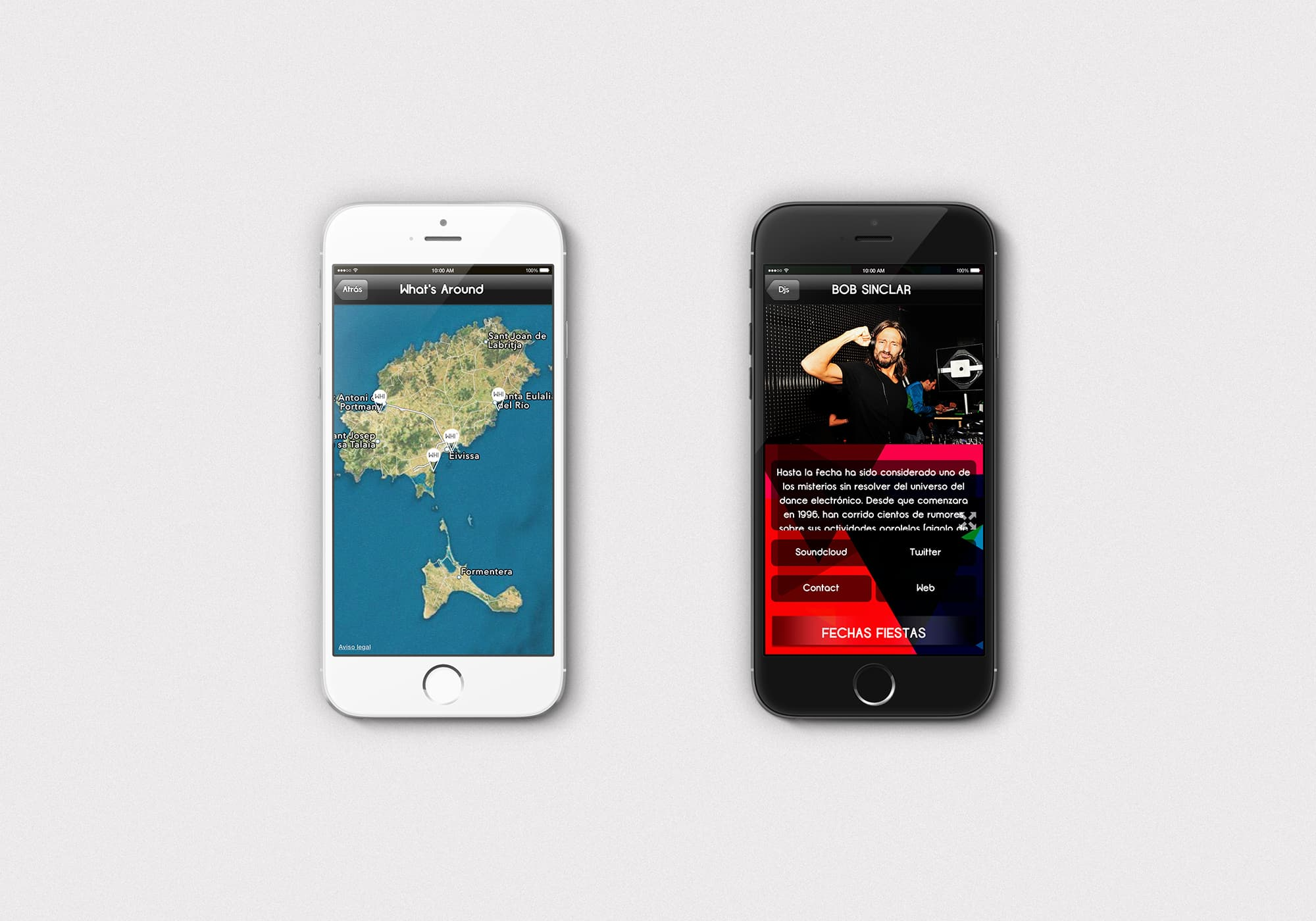 Ancar Studio What Happens Ibiza App Mapa Dj