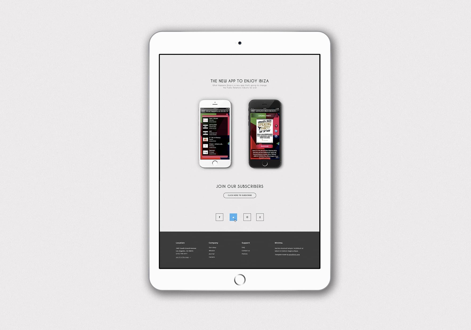 Ancar Studio What Happens Ibiza App Web Redes Sociales
