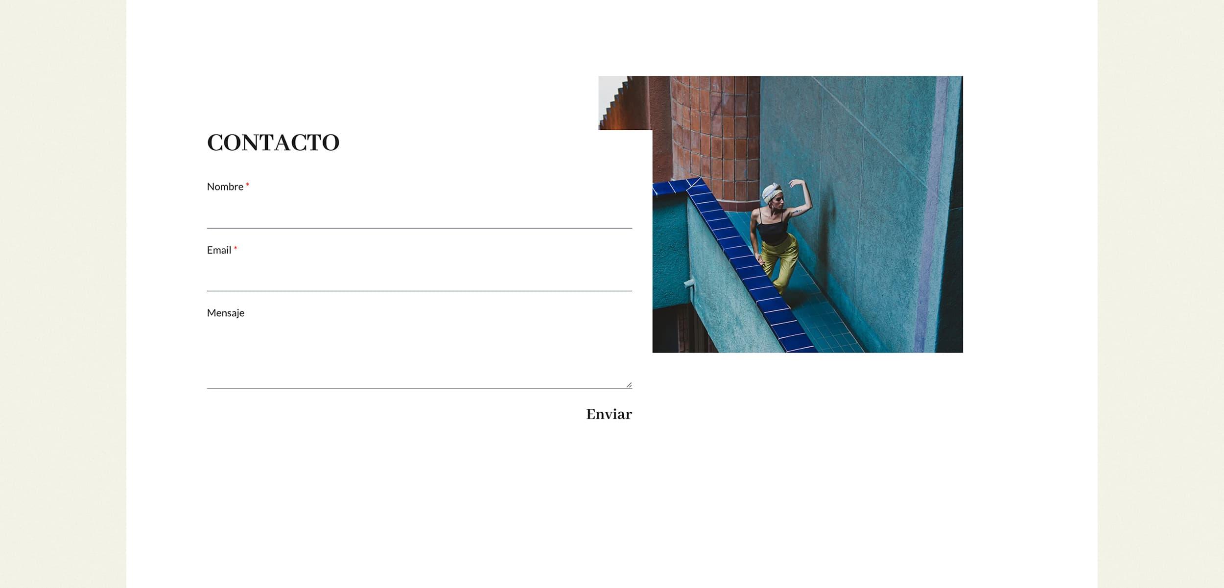 Ancar Studio - Aina Lanas Web Contacto