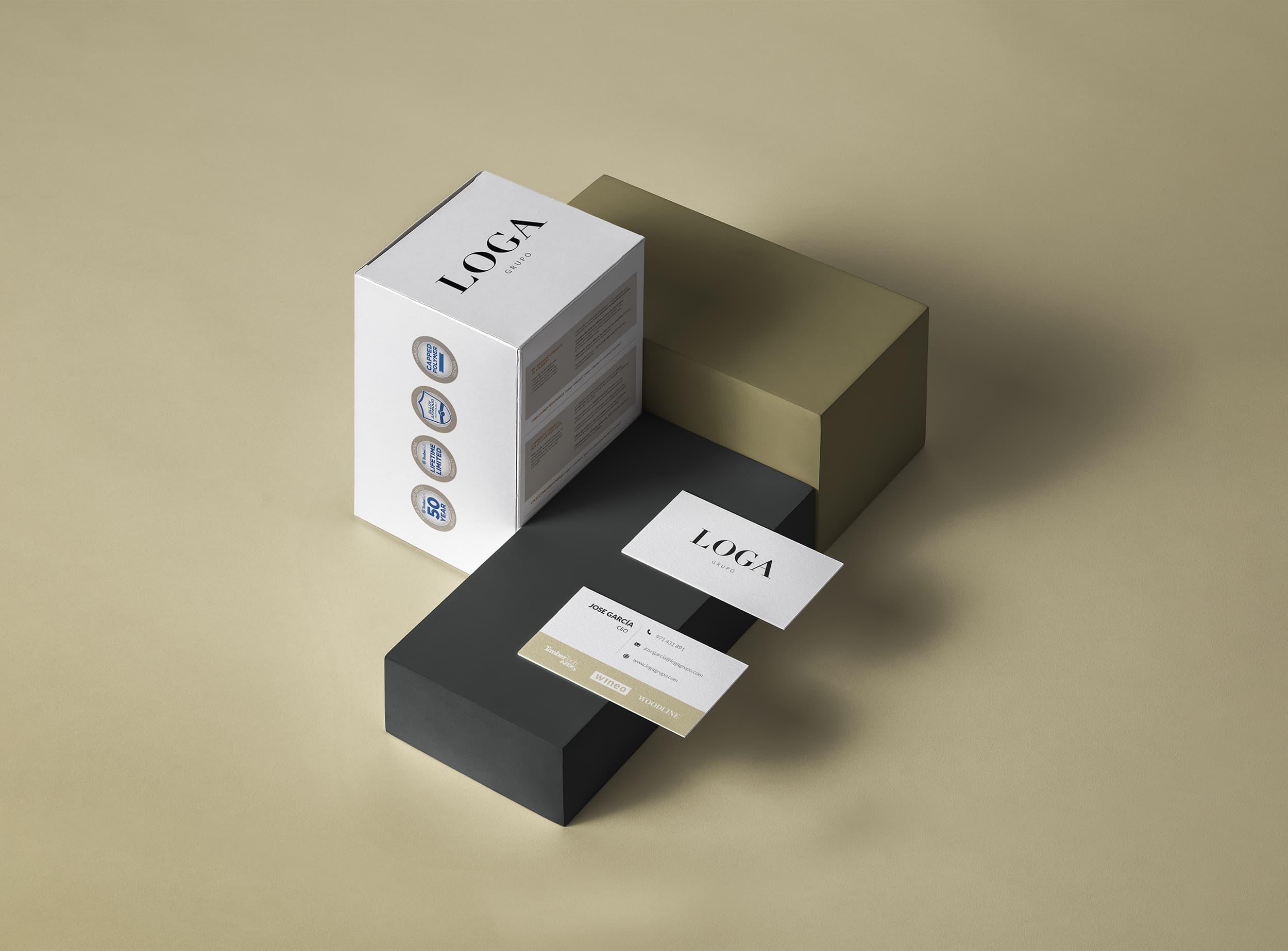 Ancar Studio - Loga - Identidad Corporativa Logo Tarjetas