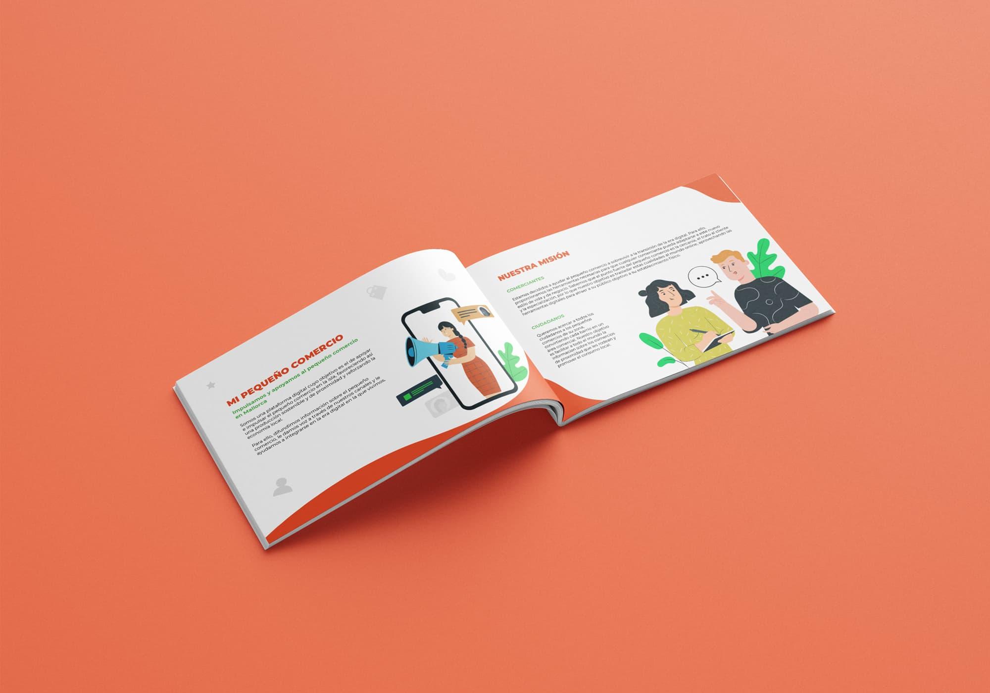 Mi Pequeño Comercio - Diseño Editorial - Folleto