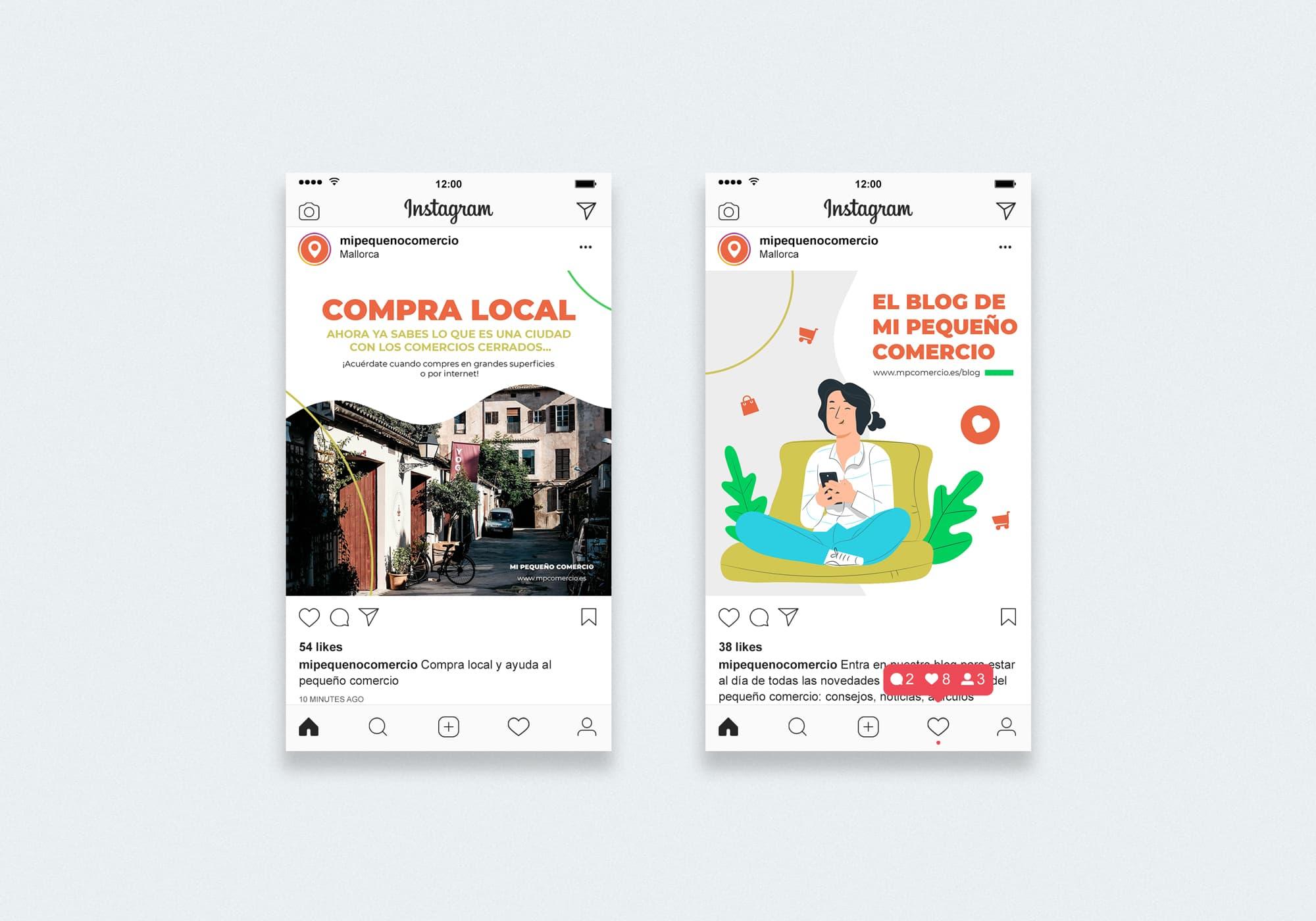Mi Pequeño Comercio - Redes Sociales - Instagram