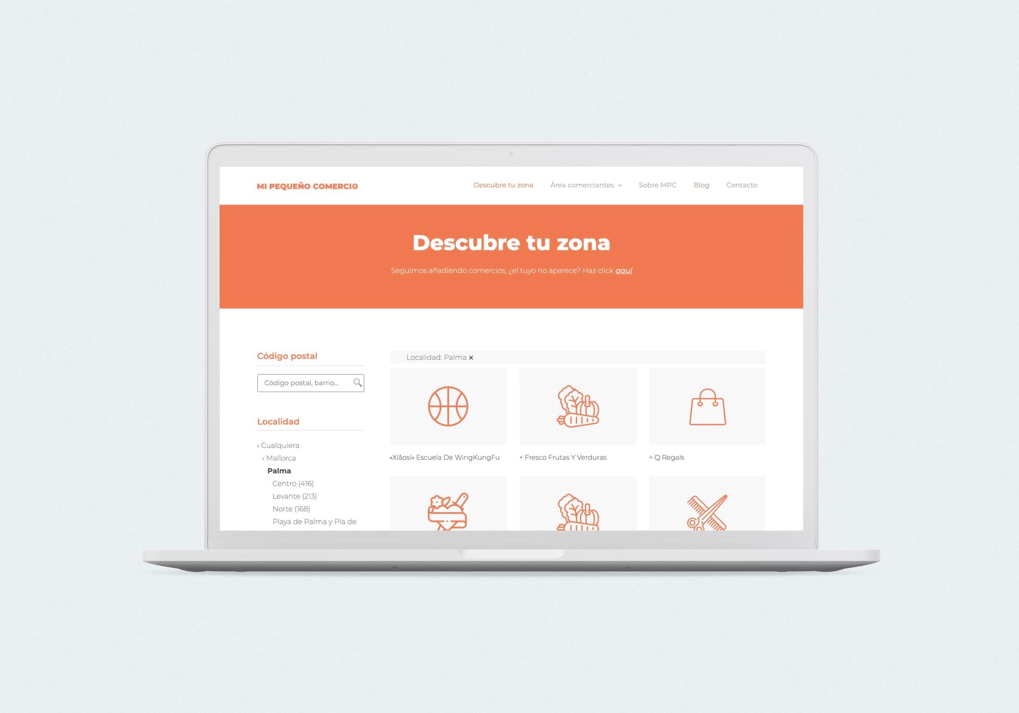 Mi Pequeño Comercio - Diseño web - Buscador Responsive