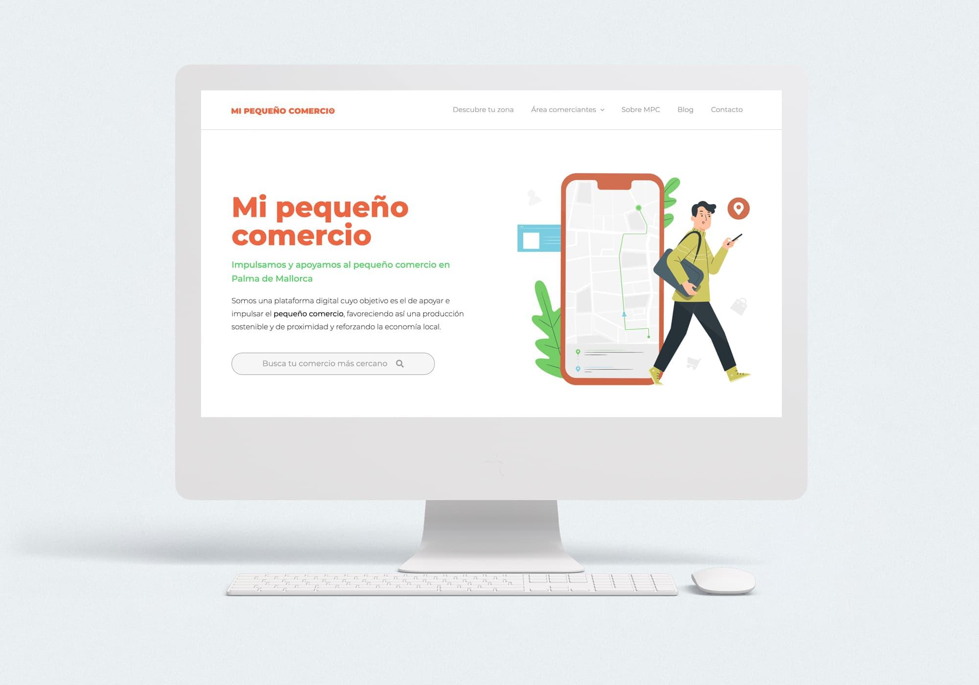 Mi Pequeño Comercio - Diseño web - WordPress