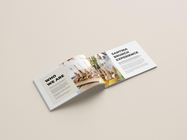 Diseño folleto Restaurante Santina Mallorca - Brunch Experience