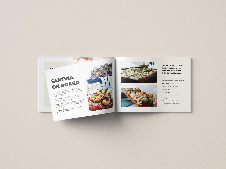 Diseño folleto Restaurante Santina Mallorca - Catering and events