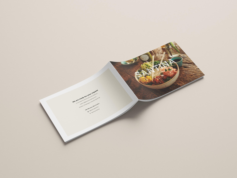 Diseño folleto Restaurante Santina Mallorca - Catering y eventos