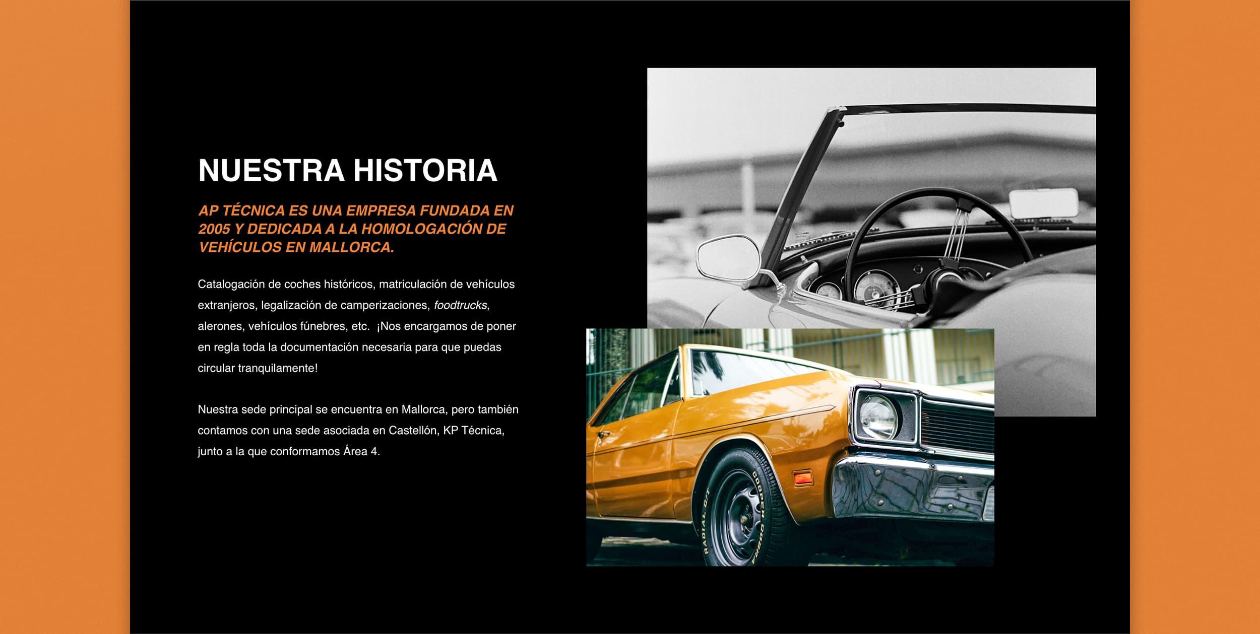 Diseño Web AP Técnica Mallorca - Àncar Studio - Historia
