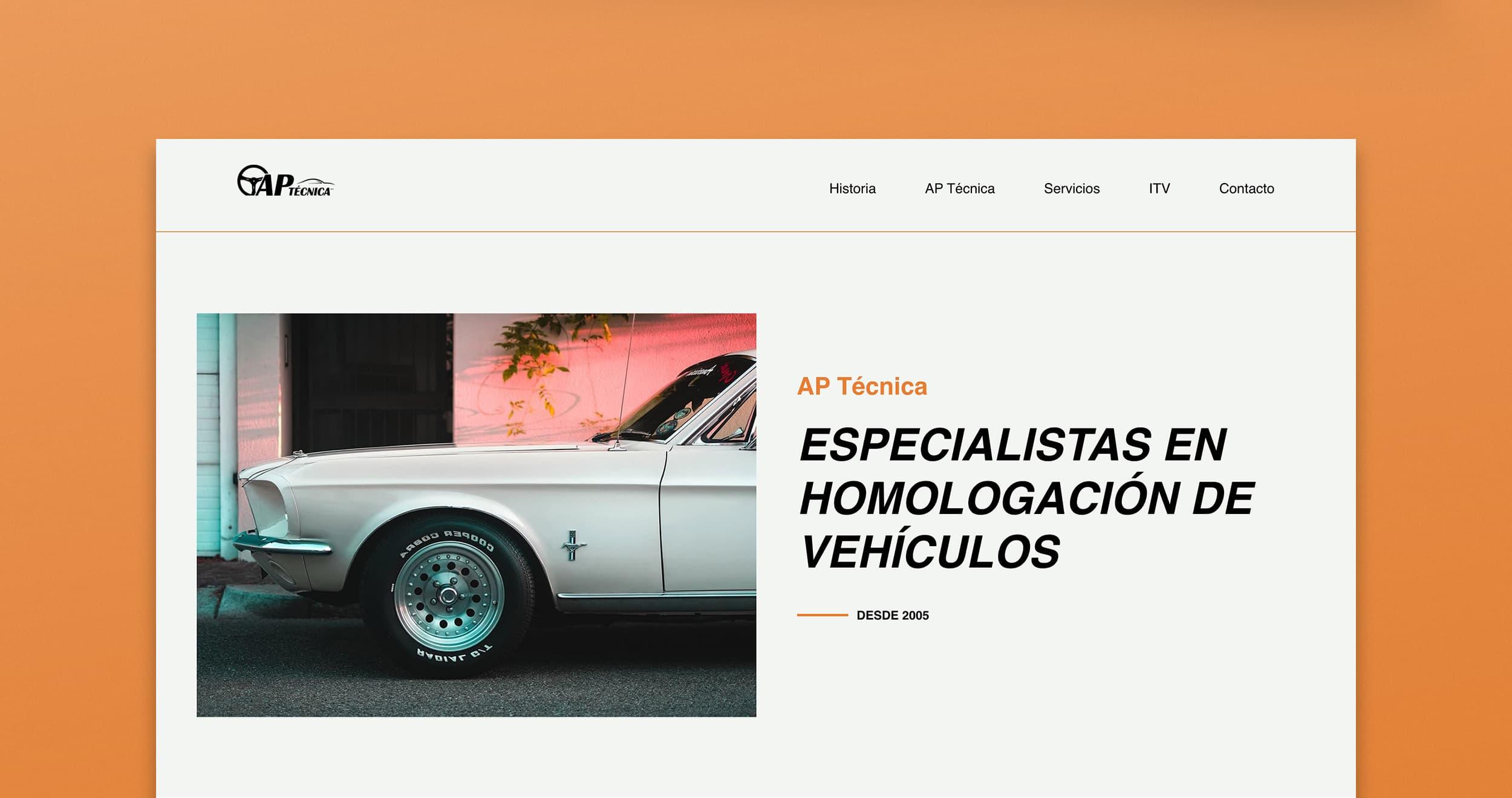Diseño Web AP Técnica Mallorca - Àncar Studio - Inicio