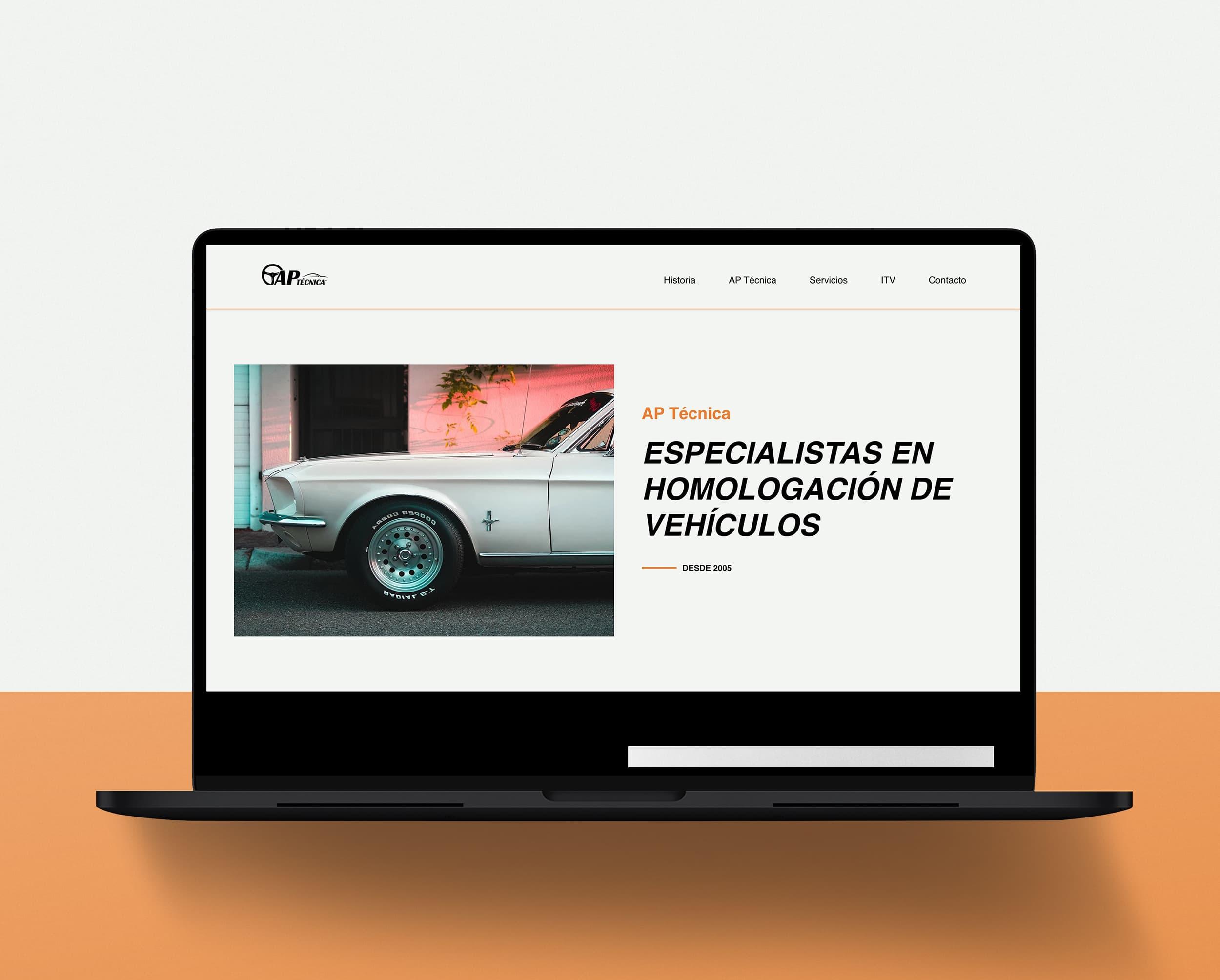 Diseño Web AP Técnica Mallorca - Àncar Studio - Laptop