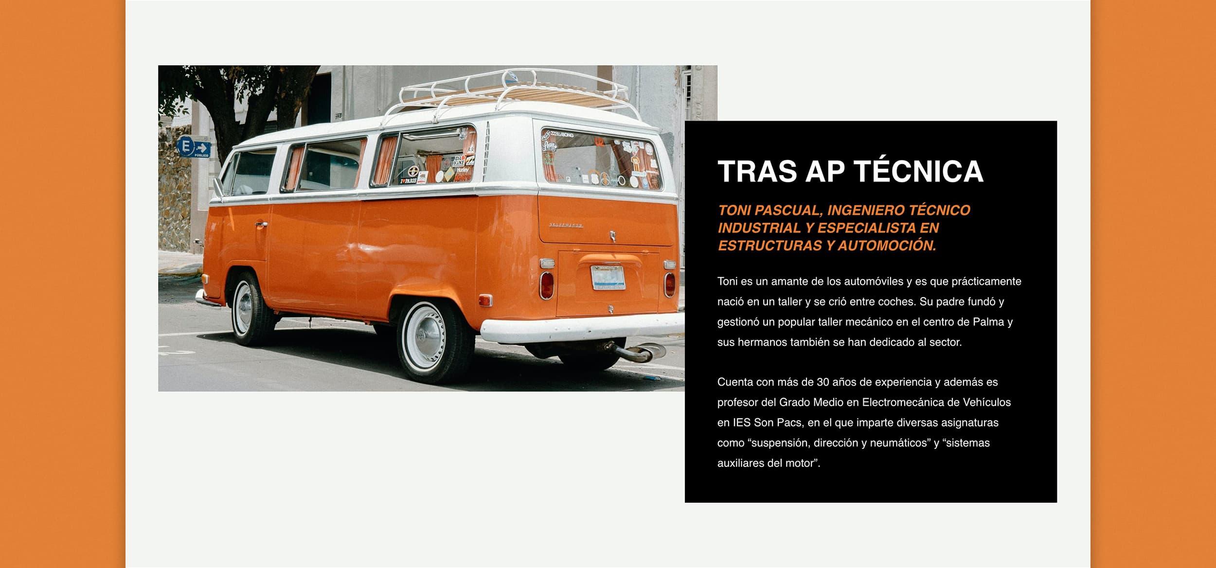 Diseño Web AP Técnica Mallorca - Àncar Studio - Toni Pascual