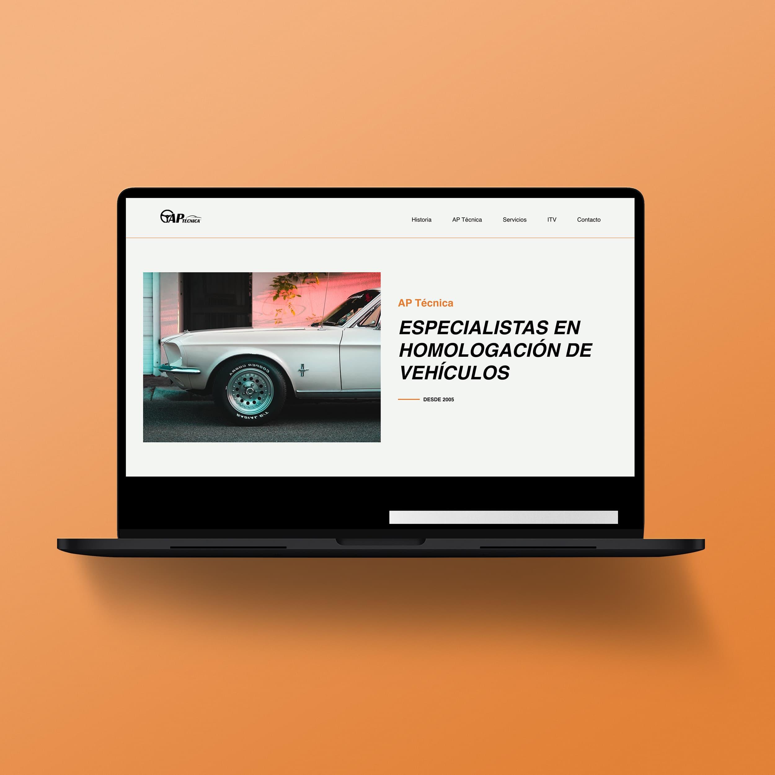 Diseño web Mallorca AP Técnica - Àncar Studio
