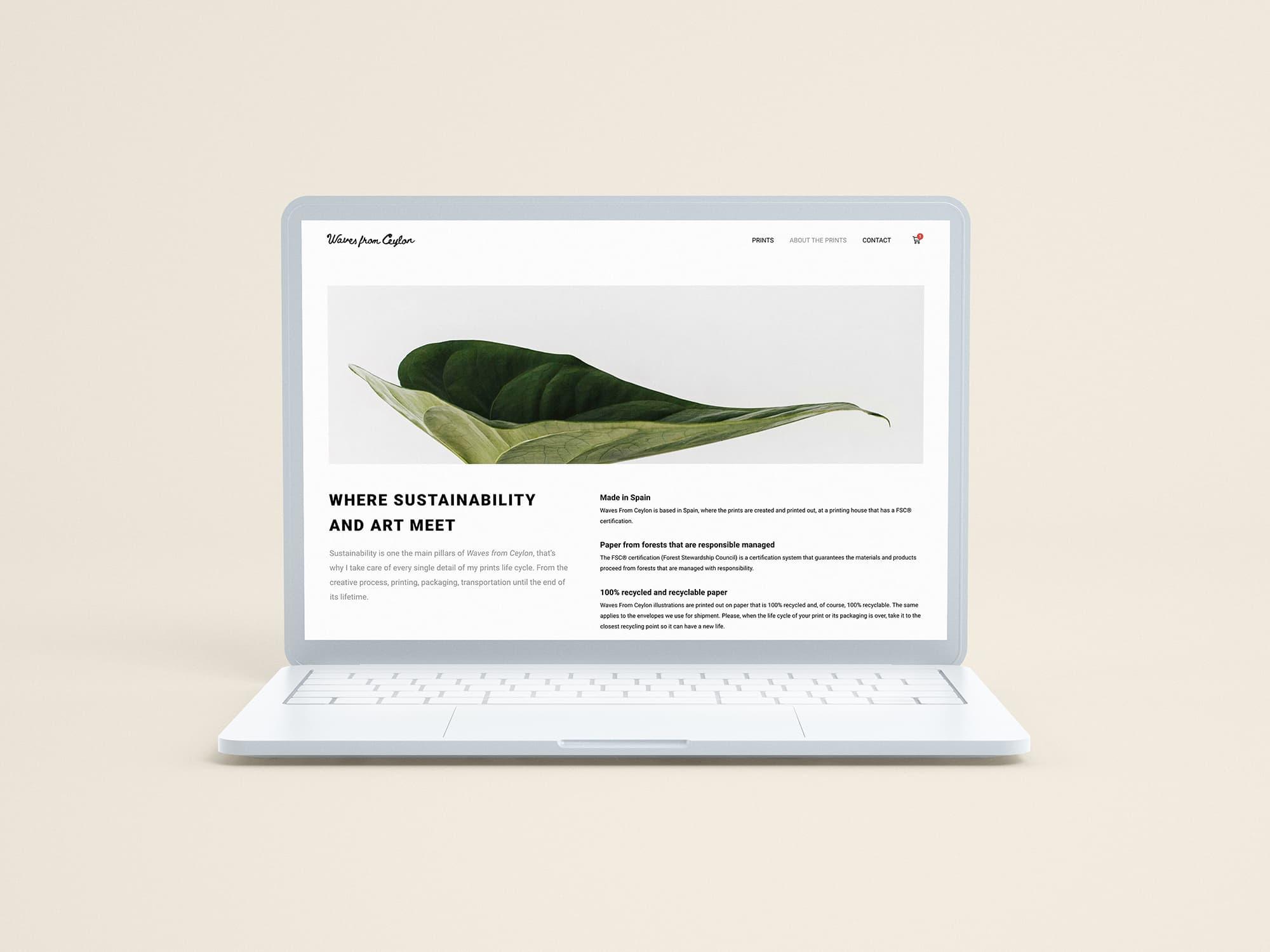 Diseño web Waves from Ceylon