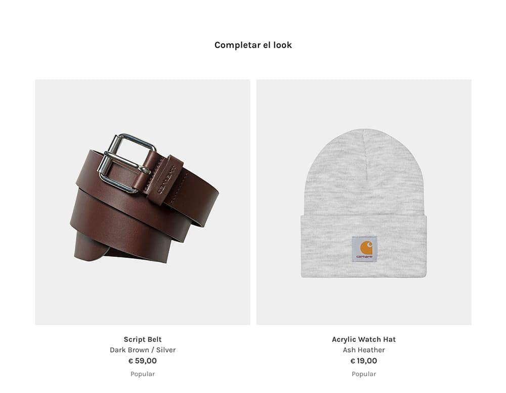 ejemplo cross selling tienda online