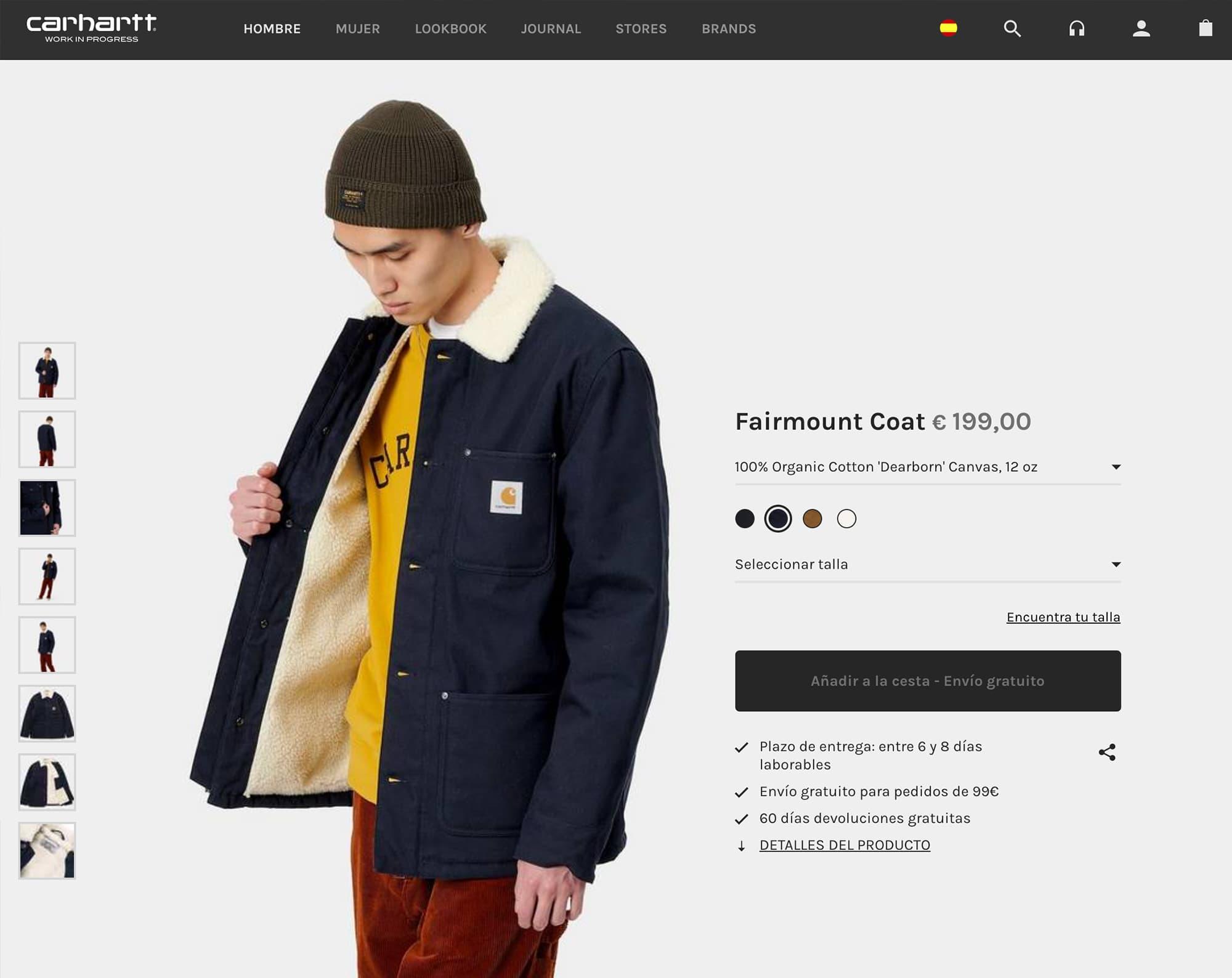 Ejemplo de cross selling en tienda online