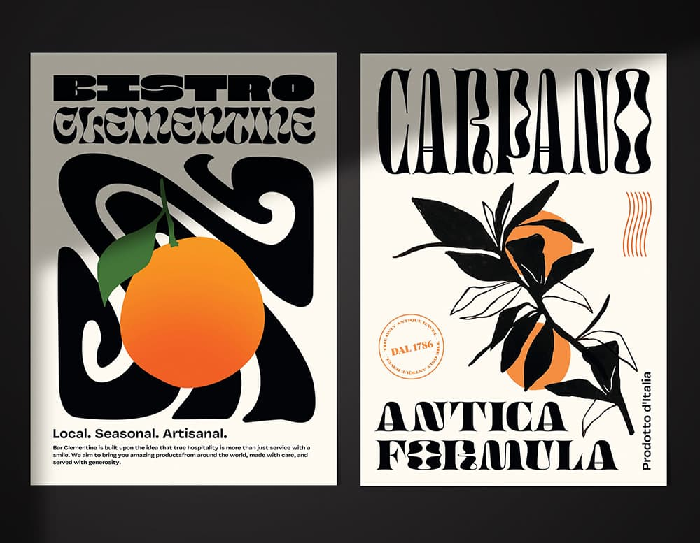 Cómo elegir la tipografía correcta: tipografía decorativa