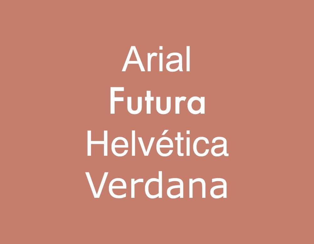 Cómo elegir la tipografía correcta: ejemplos de Sans Serif