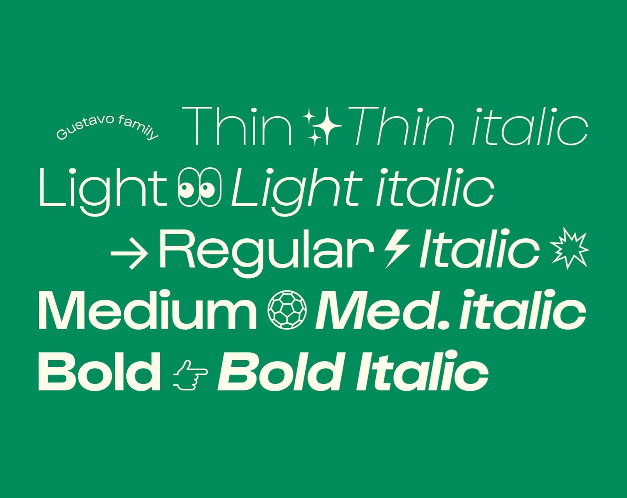 Cómo elegir la tipografía correcta: juega con los grosores