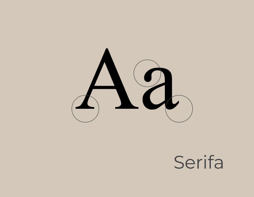 Cómo elegir la tipografía correcta: Serif
